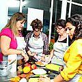 Carpaccio de mangue à la menthe et poivron rouge.. et atelier fiskars