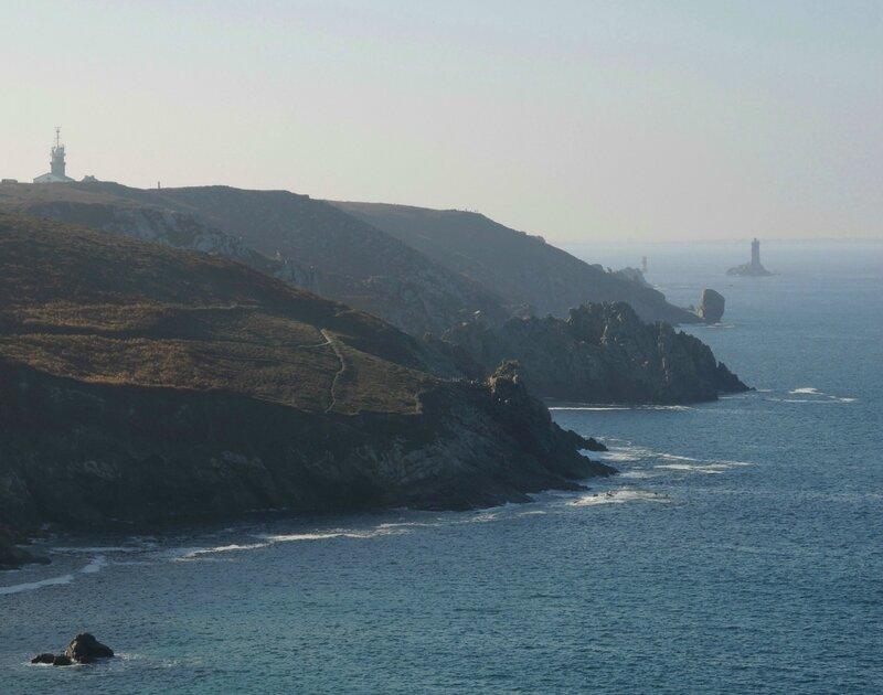 Baie des Trépassés, vue sur la pointe du raz