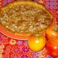 tarte aux pommes , vergeoise et amandes ....