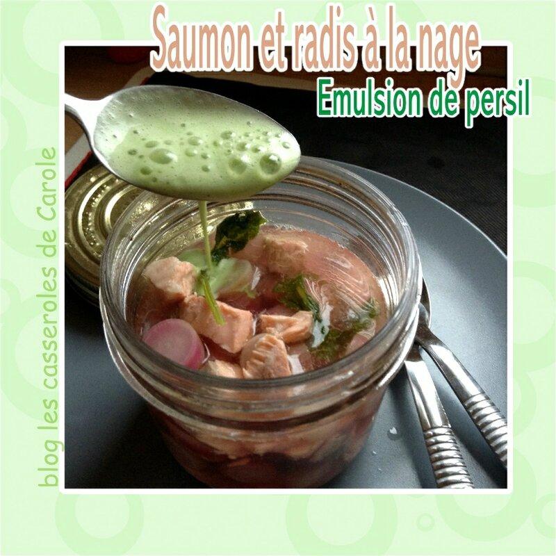 saumon et radis a la nage emulsion de persil (SCRAP 2)