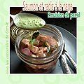 Saumon et radis à la nage émulsion de persil (atelier brita sbc paris avril 2015)