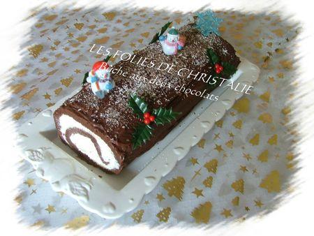 Bûche aux deux chocolats 31