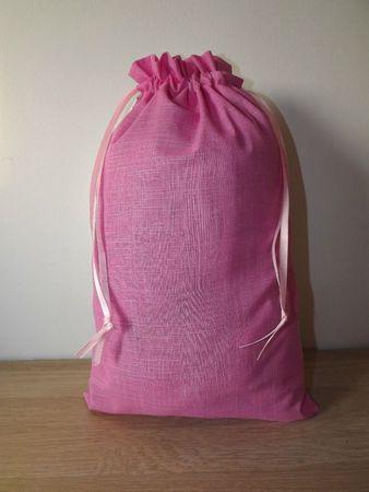 sac à doudou lapin rose 2