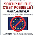 Sortir de l'ue c'est possible !