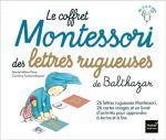 Le coffret Montessori des lettres rugueuses couv