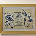 Affiche publicitaire ancienne le bon marché bleue