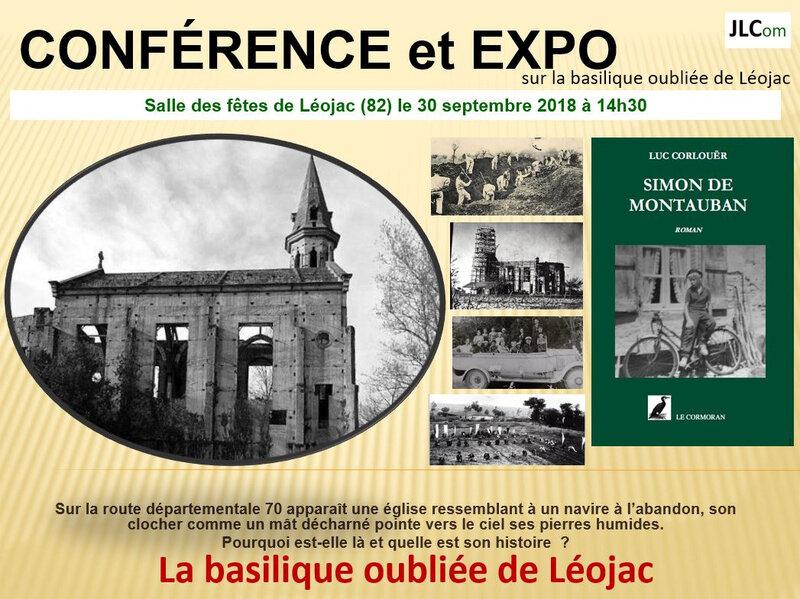 CONFERENCE EGLISE INACHEVEE DES FARGUETTES A LEOJAC LUC CORLOUER DIMANCHE 30 SEPTEMBRE 2018 A 14 H 30
