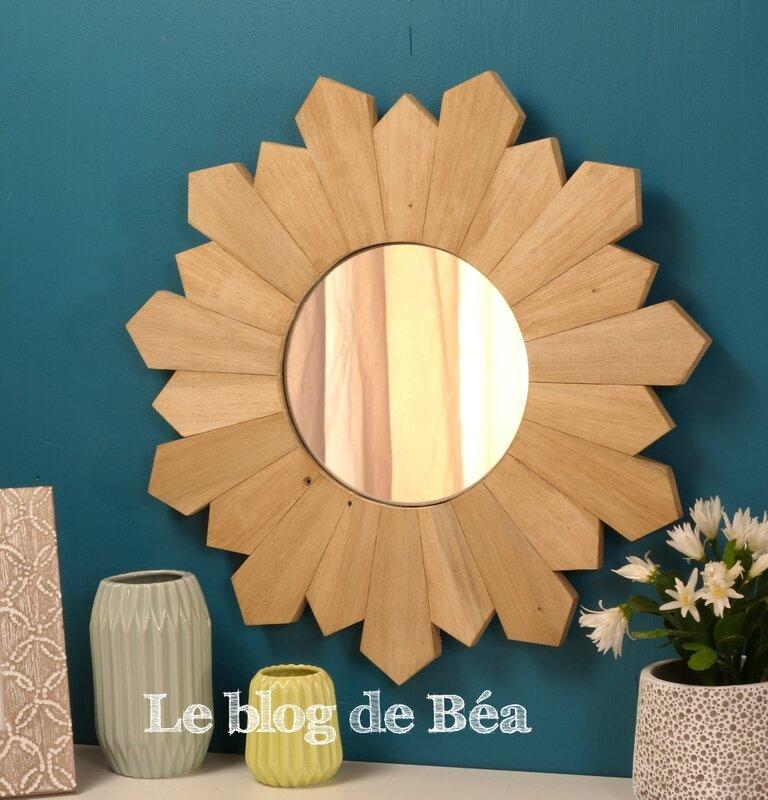 DIY miroir soleil en bois de palette /