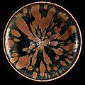 A henan russet-splashed black glazed conical tea bowl, northern song-jin dynasty (960-1234)