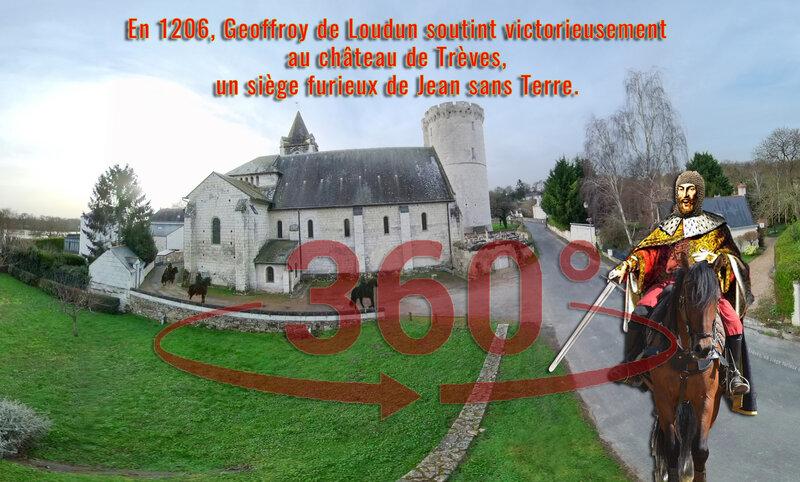 En 1206, Geoffroy de Loudun soutint victorieusement au château de Trèves, un siège furieux de Jean sans Terre