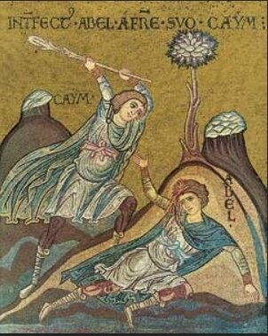 Caïn tue Abel, Monreale (Sicile), Cathédrale, XIIe s