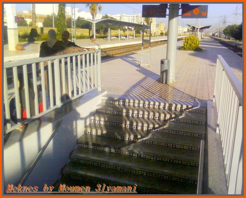 Quai Gare de Meknes voies 2 3