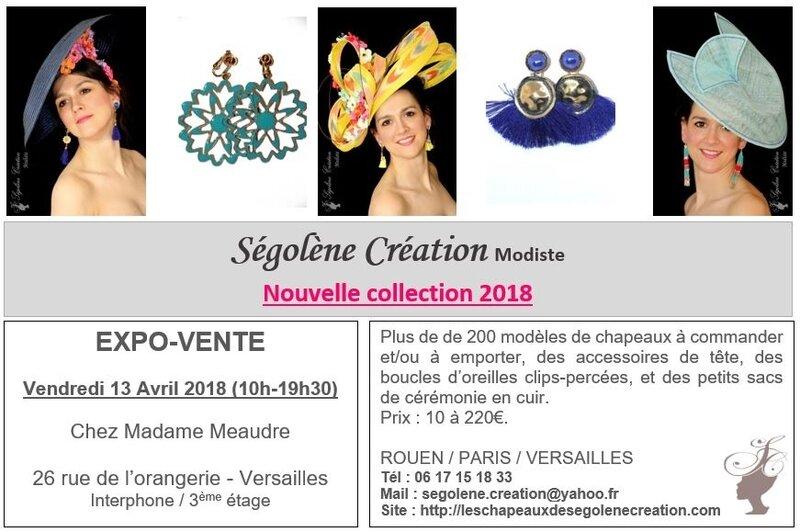 2018_04_13 expo Chapeaux VERSAILLES Mme Meaudre