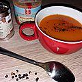 La patate douce aime le pep's du pamplemousse dans une soupe