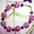 bracelet mosaique rose