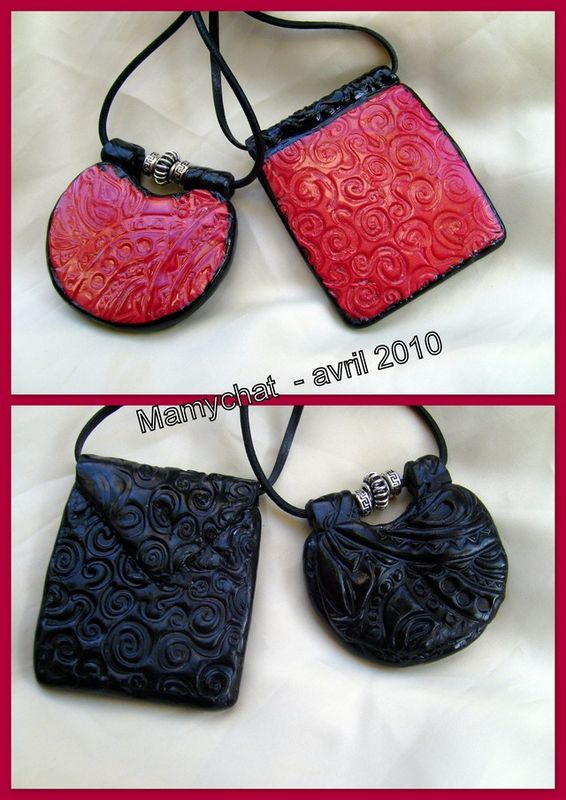 pendentifs mica shift rouge