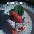 Millefeuille aux fruits rouges