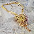 Collier pendentif la petite robe jaune