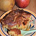 Un gâteau pour un château: moelleux aux pommes et caramel beurre salé