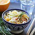 Salade de fenouil aux agrumes & saumon fumé