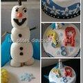 Gâteau reine des neiges 2