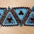 kaléidoscope quilt cuff - beadwork
