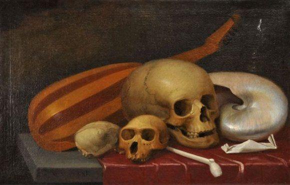 École française du XVIIe siècle, Nature morte aux crânes
