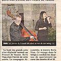 Article yonne républicaine du 27/08/2012 - vian au prieuré