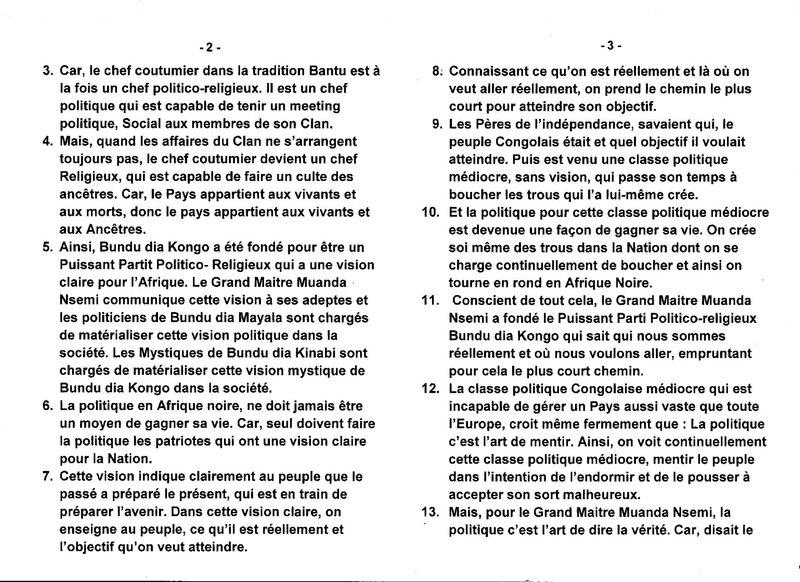 LE GRAND MAITRE MUANDA NSEMI INDIQUE LA PERSONNE IDEALE QUI DOIT FAIRE LA POLITIQUE EN AFRIQUE NOIRE b