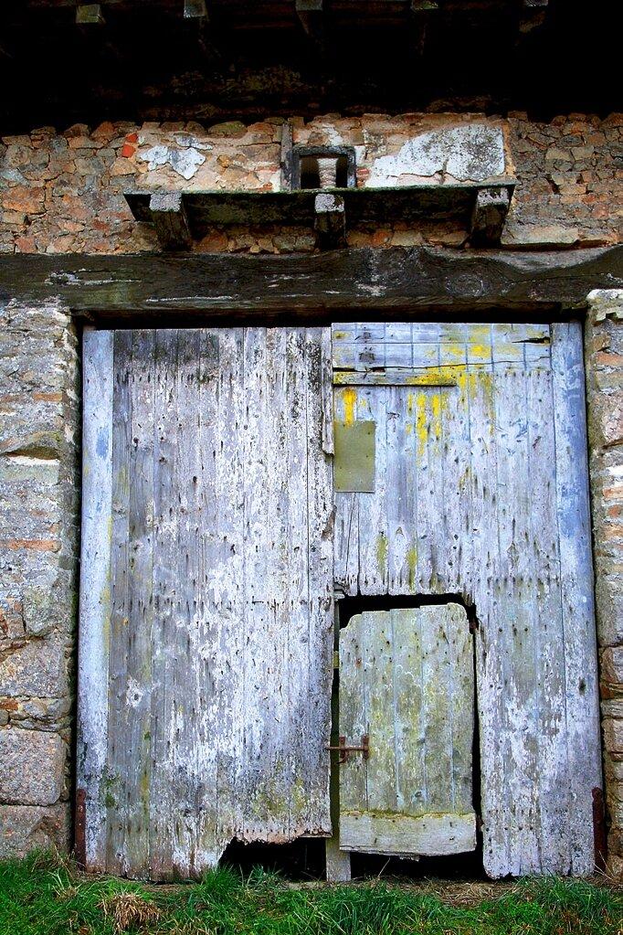 Une historique porte de grange.