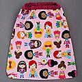 Nouvelle serviette de table enfant élastiquée