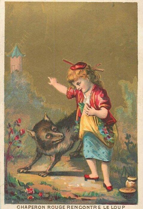 Chromo Fable Chaperon rouge et le loup