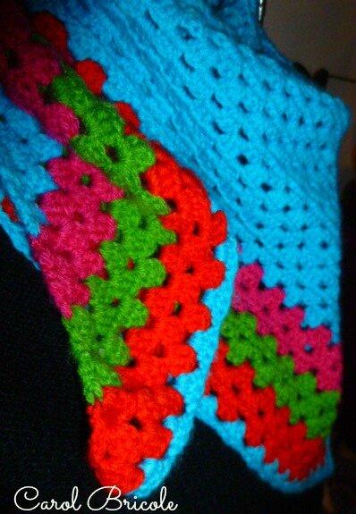 Half granny multicolore 4