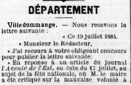 1884 14 JUILLET 1