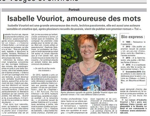 Isabelle Vouriot, amoureuse des mots