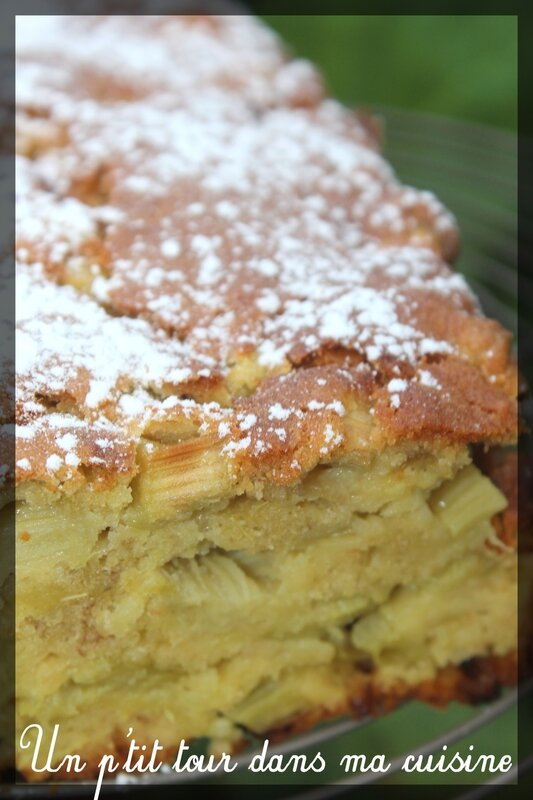 Cake rhubarbe banane