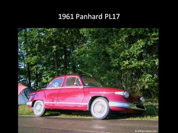 1961 - Panhard PL 17