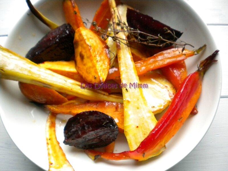 Légumes confits au four au sirop d'érable 4