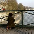 Les cadenas sur le Pont des Arts