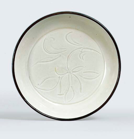 A small Ding ware dish, Song dynasty (960-1279)