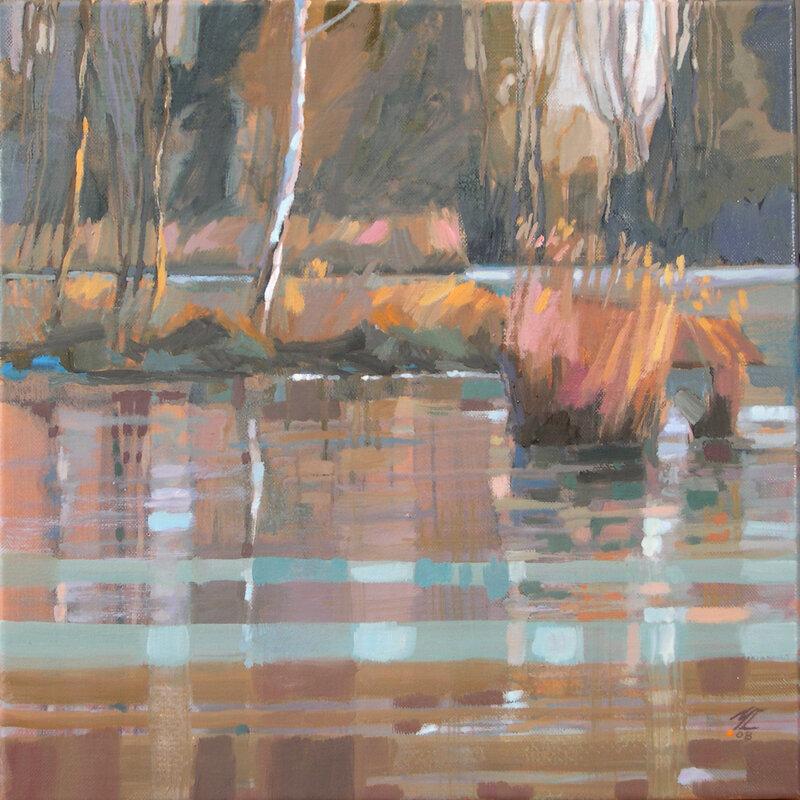 2008-Les étangs-huile-40x40cm