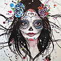 aquarelle n°10, Candy skull, A3, 2016