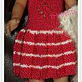 Robe rose et blanche et gilet mohair (3)