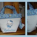 Sac Hello Kitty bleu