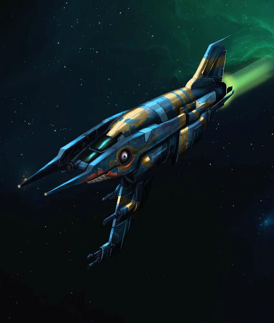 Heavy starfighter