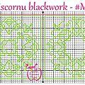 Grille biscornu blackwork #m11