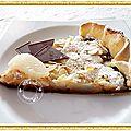Tarte poires, chocolat, amandine.....