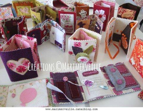 Les carnets couture faits main créations ©Marimerveille