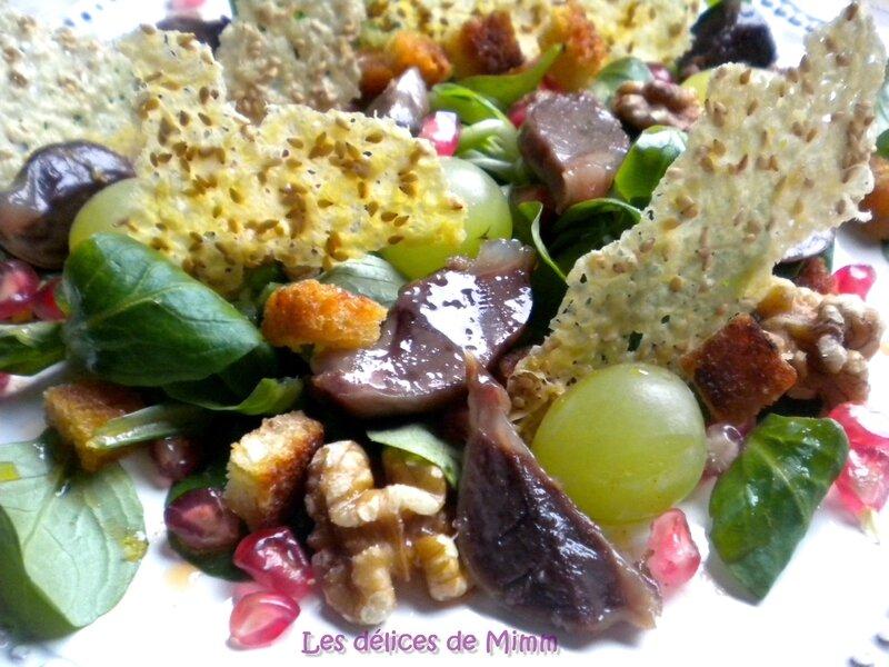 Salade d'automne aux gésiers de canard confits 2