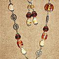 31 - perles de verre ambrées